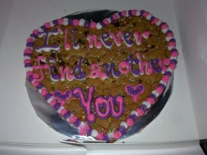 April 2011 - A sweet surprise cookie from you