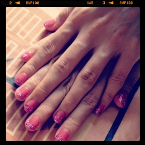 April 2011 - You accompanied me for manicure, haha
