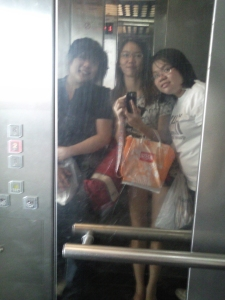 In the lift!!!!!!!!